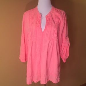 Tops - Dylan dotted Swiss cotton Top sz-L